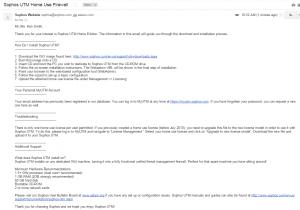 Sophos UTM Sample Email