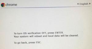 Figure 2: Turn OS Verification Off