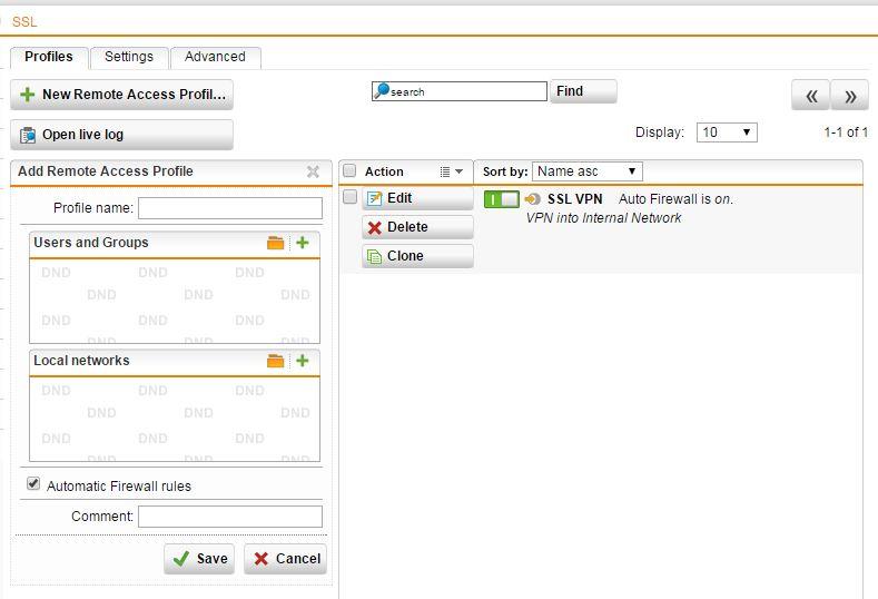 Sophos UTM Home Edition 5 – SSL VPN | War Room