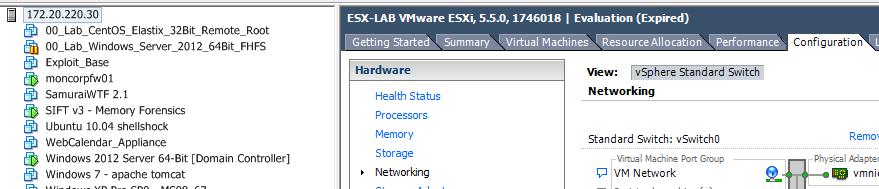 ESXi Lab Network