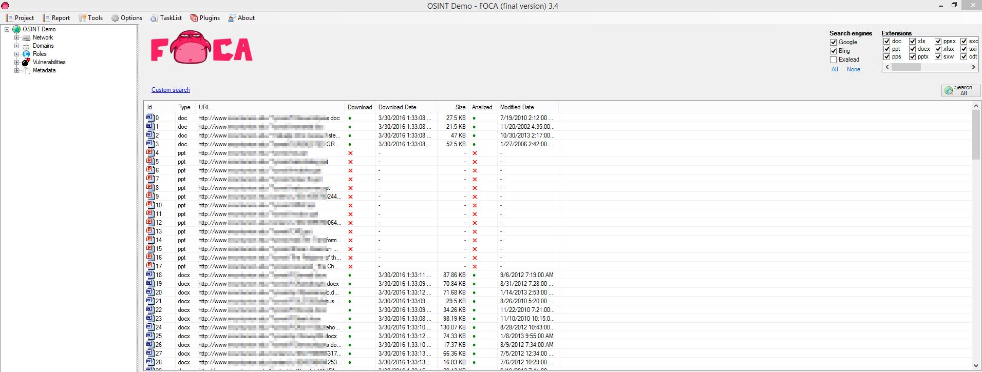 FOCA Results