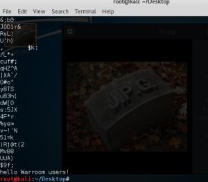 Hidden text inside a JPG file