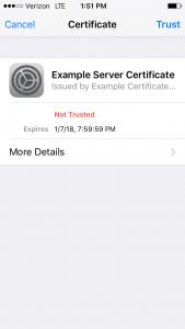 default bootstrap certificate