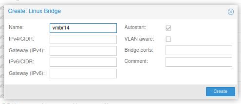 Creating a Linux network bridge.