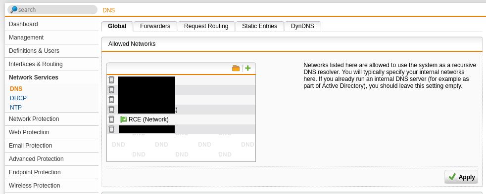 Adding DNS service to your new network segment.